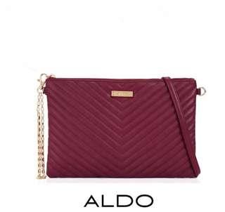 Original Aldo Quilted 2 Way Bag Burgundy #KayaRaya