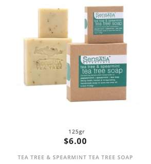 tea tree & spearmint tea tree soap