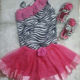 Zebra Tutu Dress Set