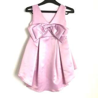 Kids Purple Satin Dress