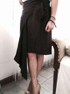 BCBG Max Azria Silk Wrap Skirt