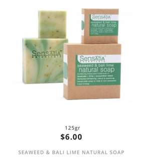 seaweed & bali lime natural soap