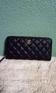 Chanel Classic Caviar Zip Around Wallet