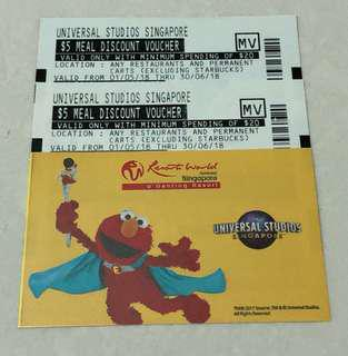 USS Meal and Retail Vouchers worth $20.00