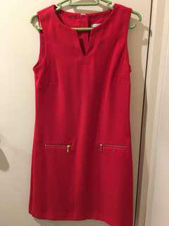 Red tunic workdress - AUS 6