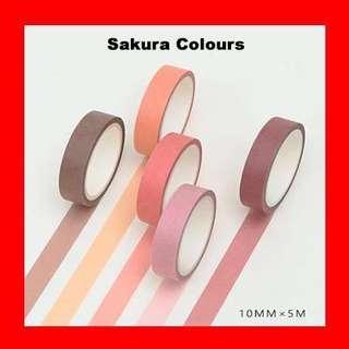 Washi Tape (Sakura Colours Set)