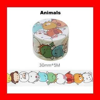 Washi Tape (Animals)