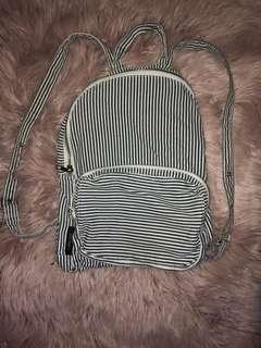Mini stripped backpack
