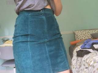 Suede Green Pencil Skirt