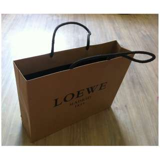 (半價) LOEWE MADRID Paper Shopping Gift Bag 紙袋 禮物袋 (Half Price)