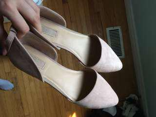 Pink F21 suede flats