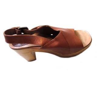 Zara Leather Chunky Heels
