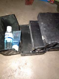 Train Case with Celeteque Toner and IWhite Moisturizer