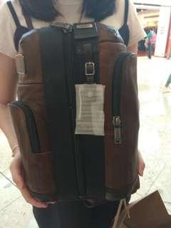 Tas tumi full kulit asli leather kondisi baru beli