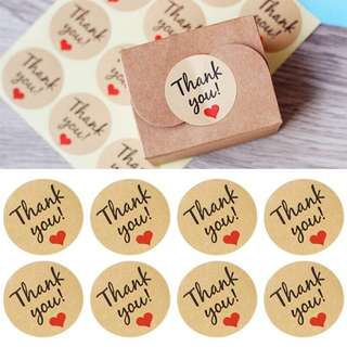 120pcs Thank You Stickers