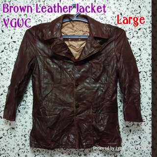 Browm genuine leather jacket