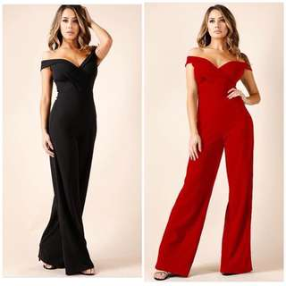 Formal Off Shoulder Jumpsuit