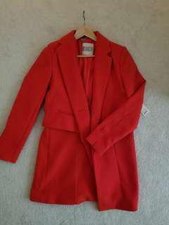 Block design midlength coat