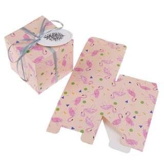 1x Flamingo gift candy box