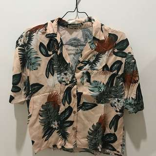Tropical blouse pull n bear