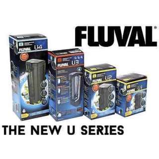 Brand New Fluval U Series - U1 U2 U3 U4 Filters - Internal Filter - Submersible