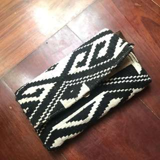 Bohemian cotton on purse / wlalet
