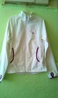 Le Coq Sportif Windbreaker White Jacket