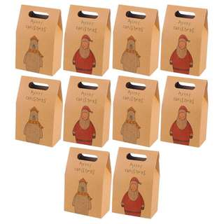 10x Christmas door gift kraft bag