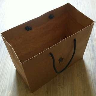 (半價) POLO Paper Shopping Gift Bag 紙袋 禮物袋 (Half Price)