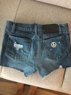 Authentic Moschino denim shorts size 26