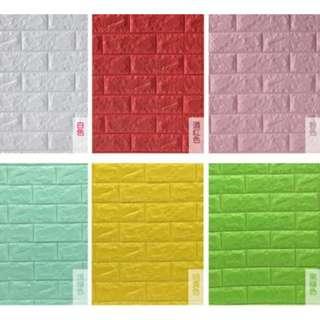 3D立體DIY磚紋牆貼(防水/防撞/隔音/防潮濕)精緻款