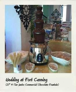 "27"" 4-tier jumbo plus commercial chocolate fondue fountain (halal)"