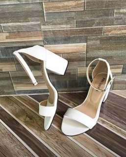 Blocl Heels (White)