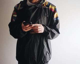 authentic ADIDAS 80s-90s waterproof windbreaker