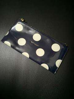 Gap Navy Blue Polka Pouch