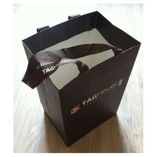 (半價) TAGHEUER C Paper Shopping Gift Bag 紙袋 禮物袋 (Half Price)