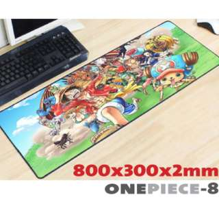 ONE PIECE #8 8030 Extra Large Mousepad Anti-Slip Gaming Office Desktop Coffee Dining Tabletop Decorative Mat