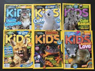 Children book: National Geographic Kids ($50 for all)