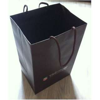 (半價) TAGHEUER Paper Shopping Gift Bag 紙袋 禮物袋 (Half Price)