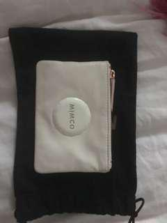 MIMCO WHITE FABRIC SMALL POUCH BNWT