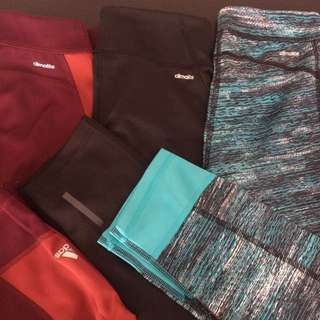 Adidas tights for workouts(bundle)