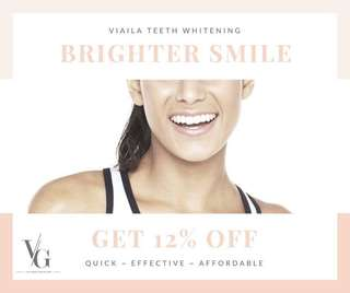 PROMOTION NOW! viaila teeth whitening