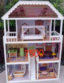 Kids wooden doll house and kitchen