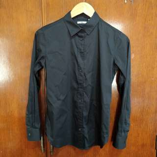 Black Uniqlo Button Down