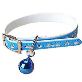 Dog collar small breed with bell