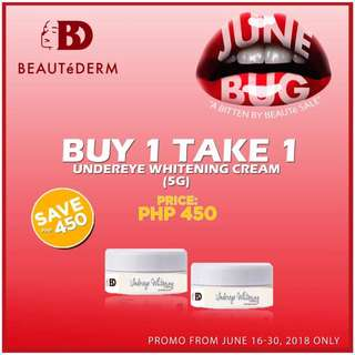 BUY 1 TAKE 1 Beautederm Eye Undereye Whitening Cream 5grams