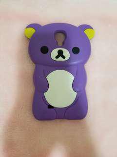 Purple Rilakkuma Bear Samsung Galaxy S4 Case