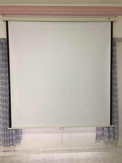 Manual type projector screen