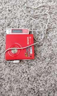 aiwa AM-HX70. 稀少紅色MD播放機