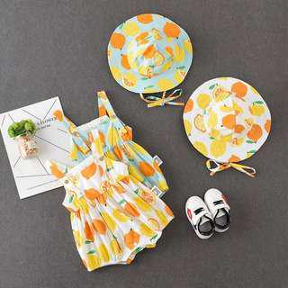 Band New Fruits Romper with Hat